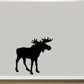 "Moose Silhouette Vinyl Wall Decal (48"" x 48"")"