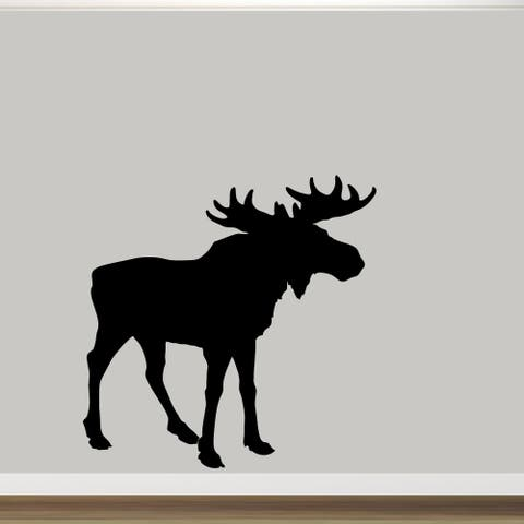 "Moose Silhouette Wall Decal (60"" x 60"")"