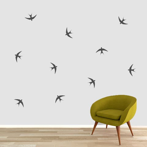 Small Swallow Birds Set Vinyl Wall Decal