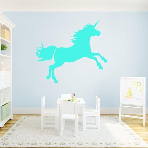 "Unicorn Silhouette Vinyl Wall Decal (48"" x 42"")"