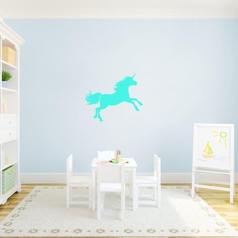 "Unicorn Silhouette Vinyl Wall Decal (24"" x 20"")"