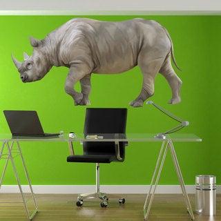 Full Color Rhino Full Color Decal, Rhino Safari Full color sticker, wall art, Sticker Decal size 33x