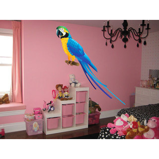 Full Color Parrot Full Color Decal, Parrot Bird Full color sticker, wall art Sticker Decal size 44x44