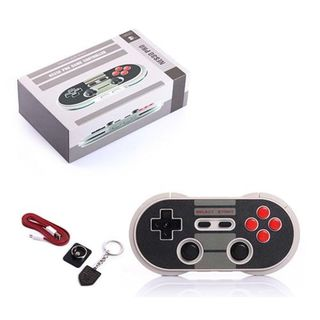8Bitdo Black Wireless Bluetooth NES30PRO Mobile Controller for iOS/ Android/ PC