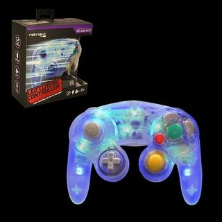 Retrolink Blue LED Wired Gamecube USB Controller for PC/ MAC
