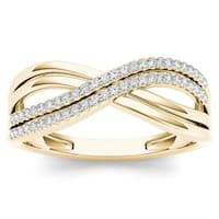 De Couer  IGI Certified 10k Yellow Gold 1/6ct TDW Diamond Fashion Ring
