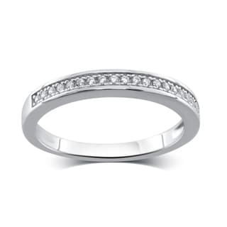 Divina Sterling Silver 1/4-carat Cubic Zirconia Band