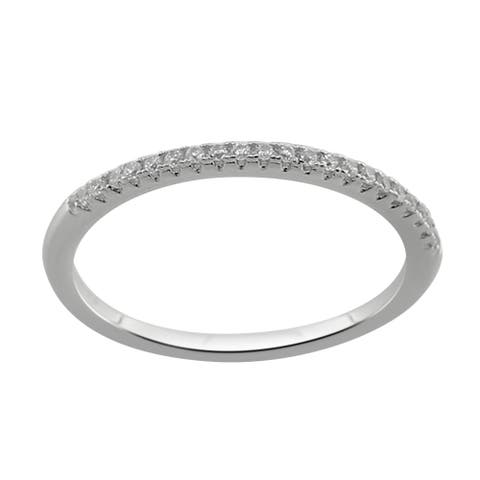 Divina Sterling Silver Cubic Zirconia Band