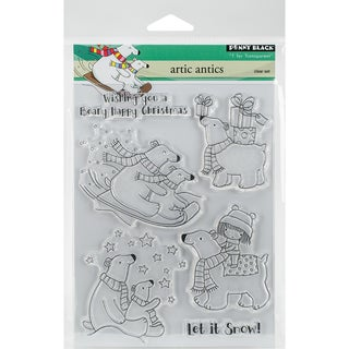 Penny Black Clear Stamps 5X7-Artic Antics