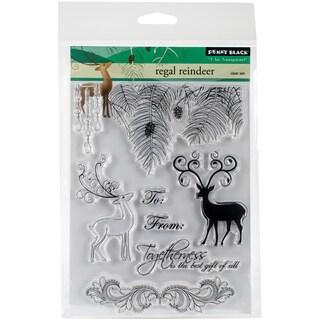 Penny Black Clear Stamps 5X7-Regal Reindeer