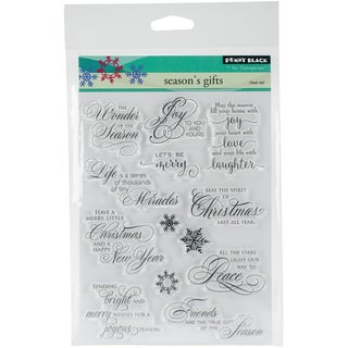 Penny Black Clear Stamps 5X7-Season's Gift