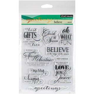 Penny Black Clear Stamps 5X7-Believe