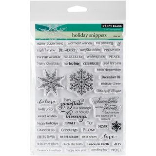 Penny Black Clear Stamps 5X7-Holiday Snippets