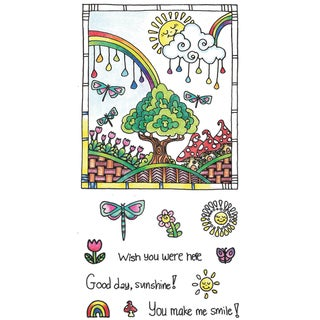 "Color Me Clear Stamps 4""X7.75""-Sunshine"