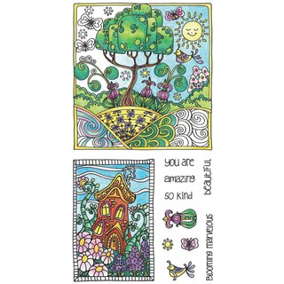 "Color Me Clear Stamps 4""X7.75""-Amazing"