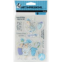"Art Impressions People Clear Rubber Stamps 4""X6""-Got Style"
