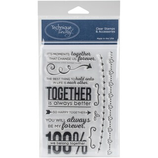 Technique Tuesday Clear Stamps 4X6-Together Forever