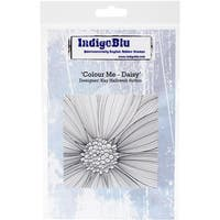"IndigoBlu Cling Mounted Stamp 5""X4""-Colour Me Daisy"