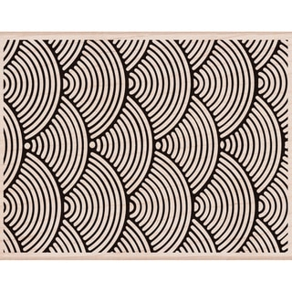 Hero Arts Mounted Rubber Stamp 4.25X5.5-Wave Pattern Background