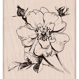 Hero Arts Mounted Rubber Stamp 3.5x3.25-Antique Rose Stem