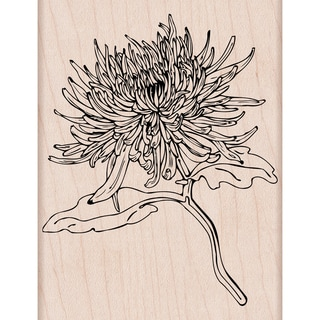 Hero Arts Mounted Rubber Stamp 4.25X3.25-Mum Flower