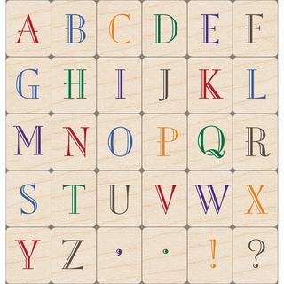 Hero Arts Mounted Rubber Stamp Set 5X4-Vintage Alphabet