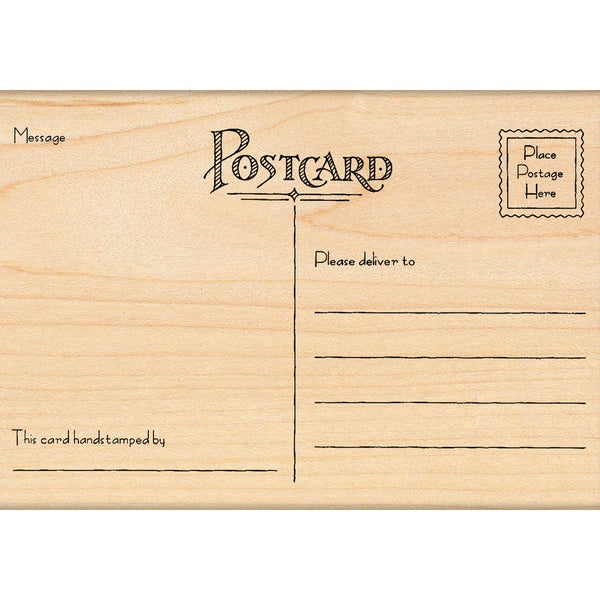 Penny Black Mounted Rubber Stamp 5.5x3.25-Postcard