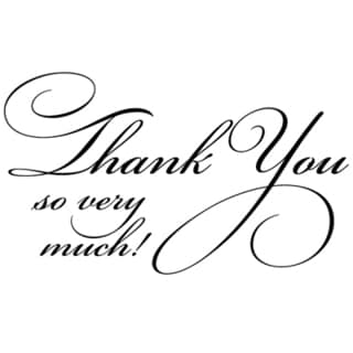 Penny Black Mounted Rubber Stamp 1.75X2.5-Flourish Thank You