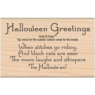 My Sentiments Exactly Mounted Stamp 2X3.25-Halloween Greetings