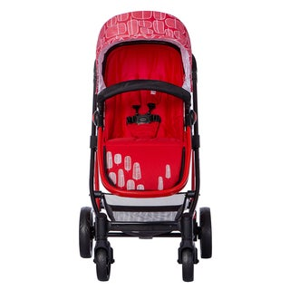 Mia Moda Marisa Red Plastic Three-in-one Stroller