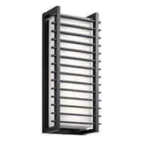 Kichler Lighting Rockbridge Collection 2-light Black LED Outdoor Wall Sconce