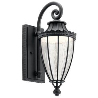 Kichler Lighting Wakefield Collection 1-light Textured Black LED Outdoor Wall Lantern