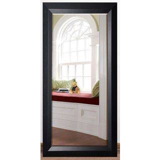 US Made Solid Black Angle Beveled Full Body Mirror