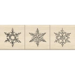 """Inkadinkado Mounted Rubber Stamp Set 1.5""""X4.5""""-Snowflakes"""