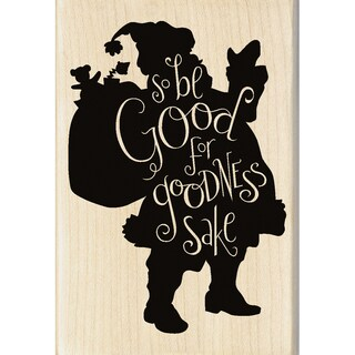 "Inkadinkado Mounted Rubber Stamp 2.75""X4""-Be Good"