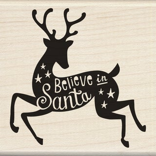 "Inkadinkado Mounted Rubber Stamp 3""X3""-Believe In Santa"
