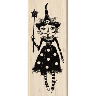 "InkadinkadoMounted Rubber Stamp 2""X4.75""-Witch Doll"