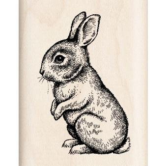 Inkadinkado Mounted Rubber Stamp 2.25X1.75-Baby Bunny