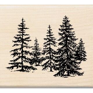 "Inkadinkado Mounted Rubber Stamp 2.25""X2.5""-Stand Of Pines"