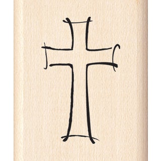 Inkadinkado Mounted Rubber Stamp 1.5X1-Jazzy Style Cross