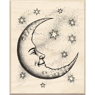 Inkadinkado Mounted Rubber Stamp 2.5X2-Crescent Moon