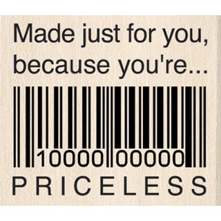 """Inkadinkado Mounted Rubber Stamp 1.5""""X1.5""""-Just For You Priceless"""