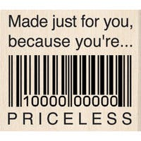 "Inkadinkado Mounted Rubber Stamp 1.5""X1.5""-Just For You Priceless"