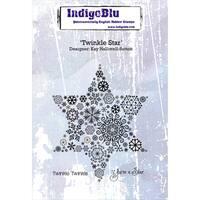 "IndigoBlu Cling Mounted Stamp 5""X4""-Twinkle Star"