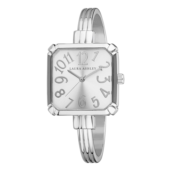 Laura Ashley Silver Skinny Bangle Square Watch
