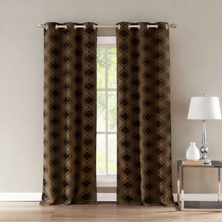 Crystal Blackout Grommet Top Curtain Panel Pair