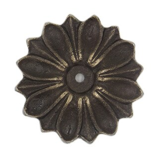 Antique Solid Metal Flower Shaped Decorative Back Plate Base - Pack of 6 (As Is Item)