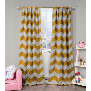 Lala Bash Fifika Chevron Print Blackout Curtain Panel Pair - 39 x 84