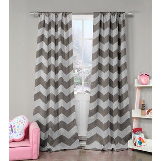 Lala Bash Fifika Chevron Print Blackout Curtain Panel Pair - 78x84