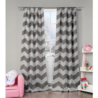 Lala Bash Fifika Chevron Print Blackout Curtain Panel Pair - 39 x 84
